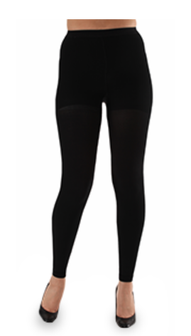 Footless compression leggings for varicose veins