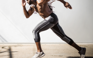 Men's running tights with pockets